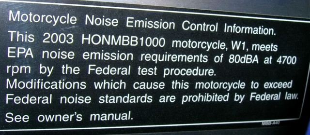 EPA frame sticker